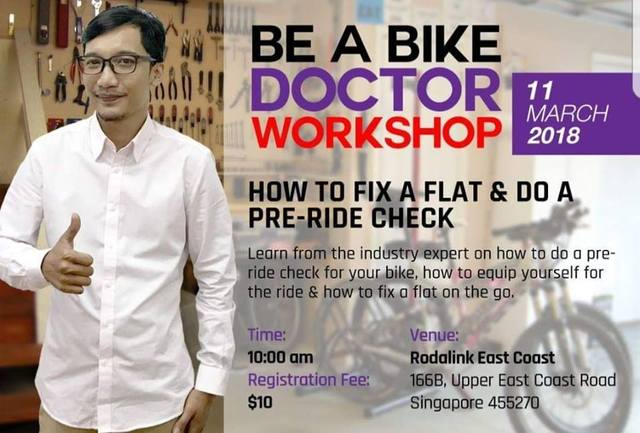 Be a bike doctor workshop  with Dr N - How to fix a flat & do a pre-ride check