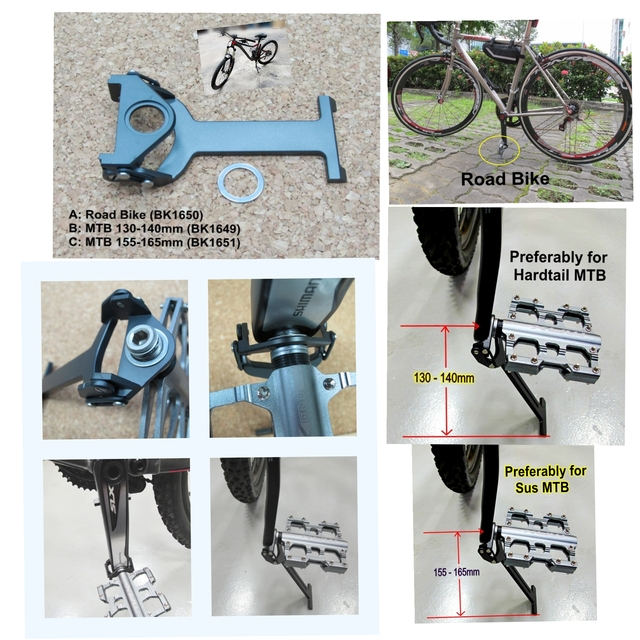Light Weight Hidden Crank Arm Stand for MTB & Road Bike
