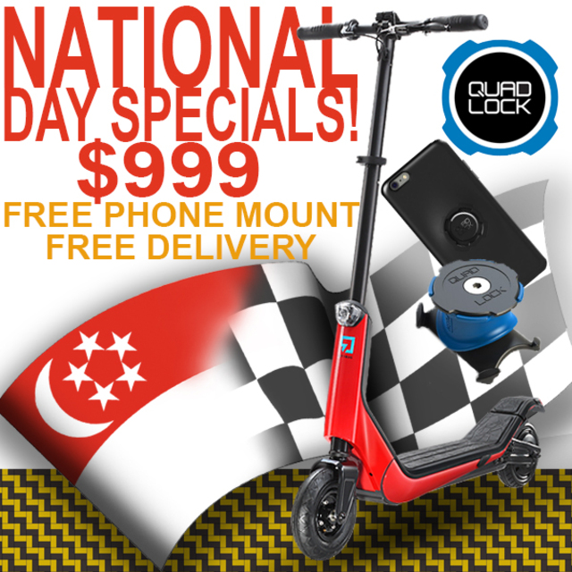 NATIONAL DAY SALES! - Citybug2S Electric Scooter with FREE Quad Lock Smart Phone Mount
