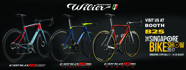 See these 3 Special Wilier Cento10AIR at the 2017 Singapore Bike Show