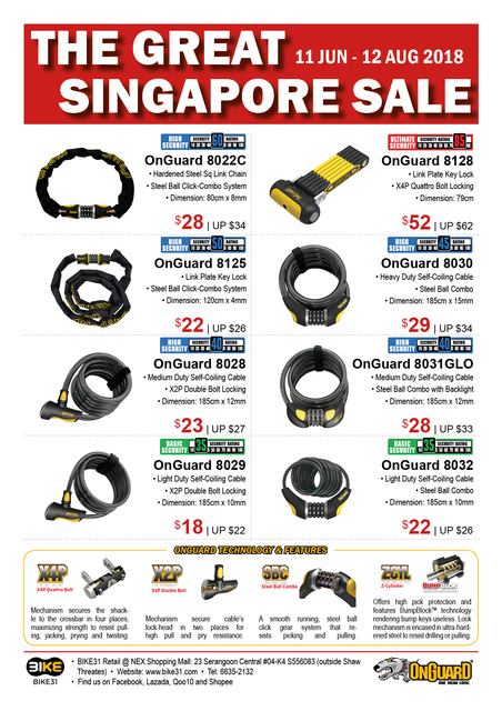 BIKE31 GSS Sale 2018 (OnGuard Locks)