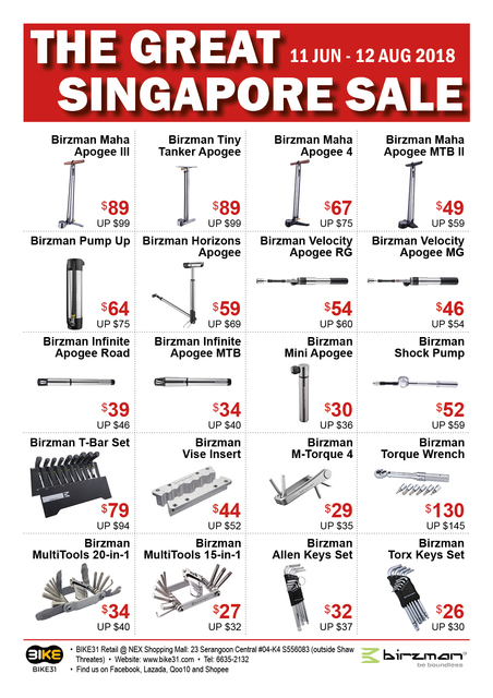 BIKE31 GSS Sale 2018 (Birzman Pumps and Tools) - Page 1
