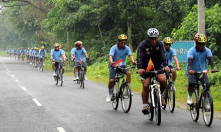 Cycling expedition turned into relief mission!
