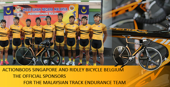 Actionbods Singapore and Ridley Bicycle Belgium – The Official Sponsors for the Malaysian Track Endurance Team