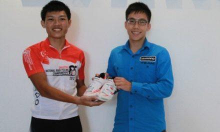Singapore's National Road Champ gets custom kicks from Shimano