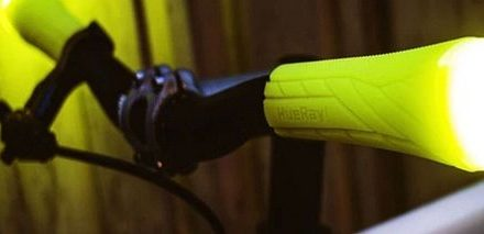 Handle-bar grips that gives off light!