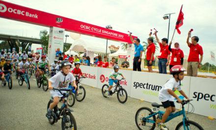 KIDS ON TWO WHEELS LIGHT UP OCBC CYCLE SINGAPORE 2012