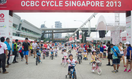 Kids & Foldies Take Over the Track at OCBC Cycle Singapore 2013