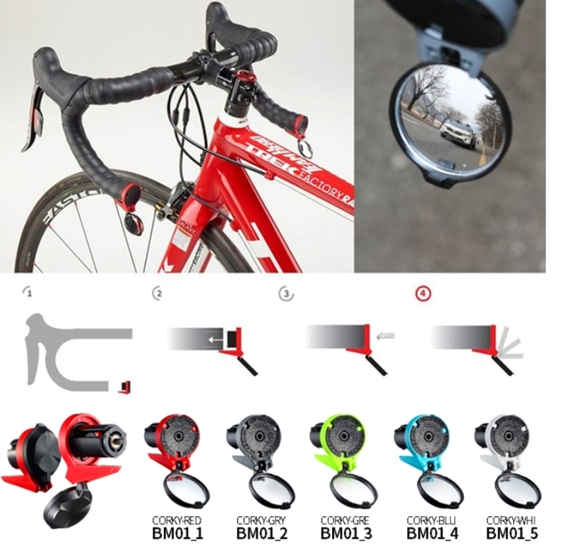 Corky Rear View Mirror For Road Bike